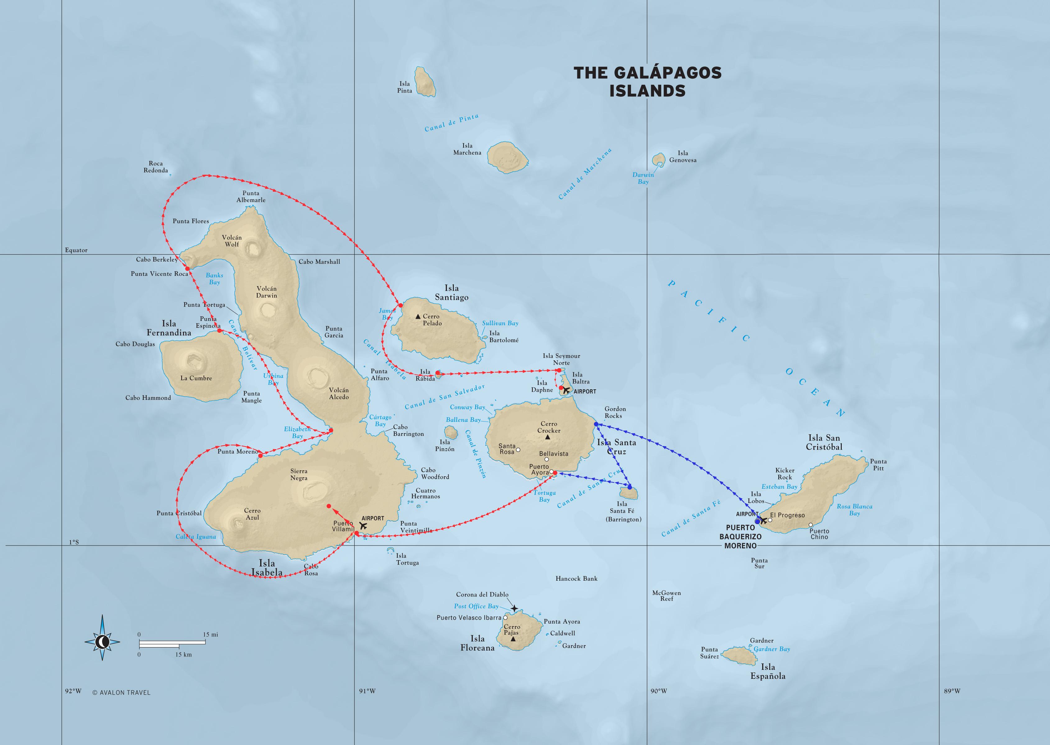Galapagos Tours Galapagos Islands Maps - Galapagos map